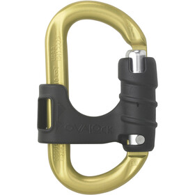 AustriAlpin Ovalock Snapgate Carabiner for safer belaying, yellow anodized